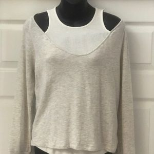 NWT MONROE Top with seen in undershirt SZ S